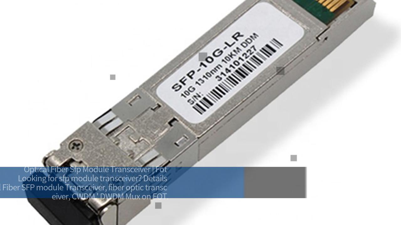 Optical Fiber SFP module Transceiver Video Show