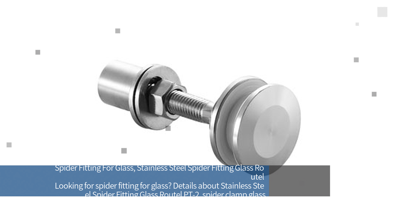 glass spider clamp,Stainless Steel Spider Fitting Glass Routel PT-2   JY