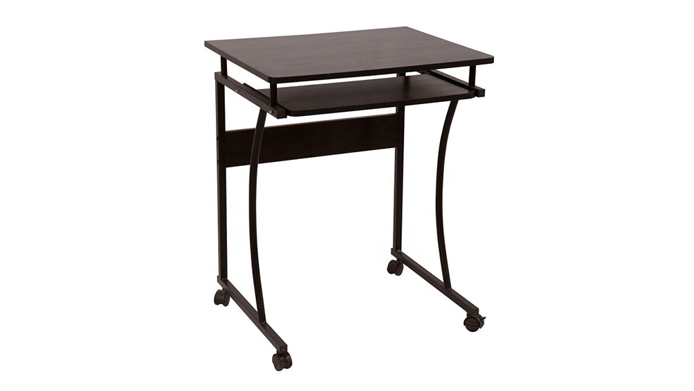 High quality melamine board computer table with wheel