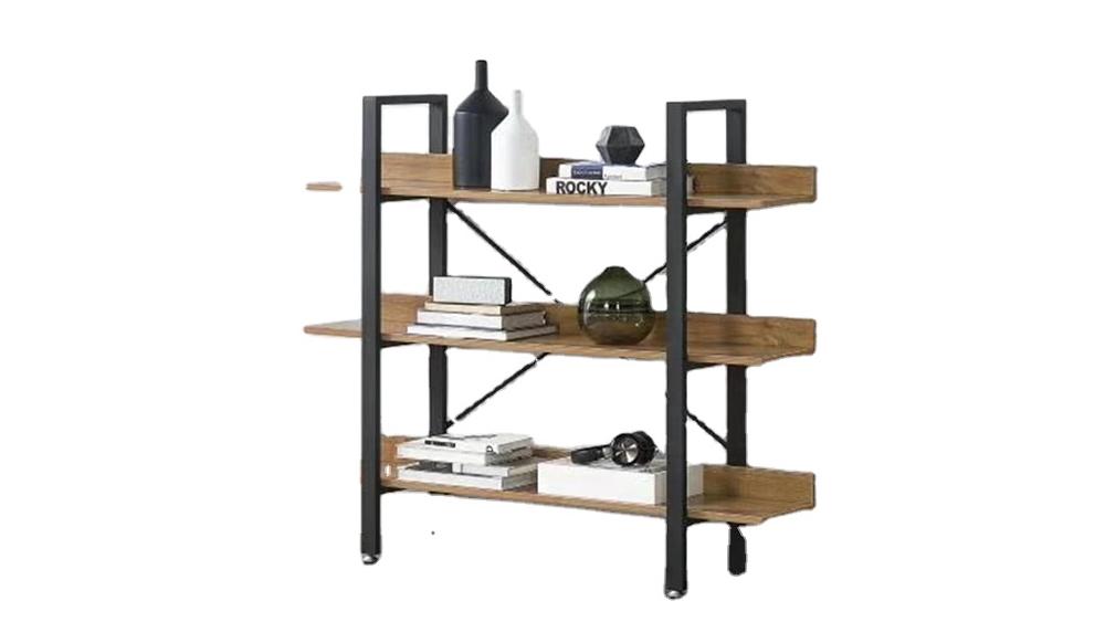 YuKai Hot sale multi-tiers shelf wooden board and metal frame book shelf for living room-study room-school YK-069