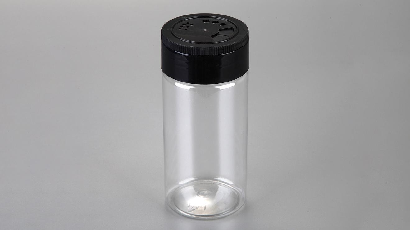 Contenitore per pepe in barattolo di spezie in plastica PET trasparente con tappo a scatto 1 acquirente