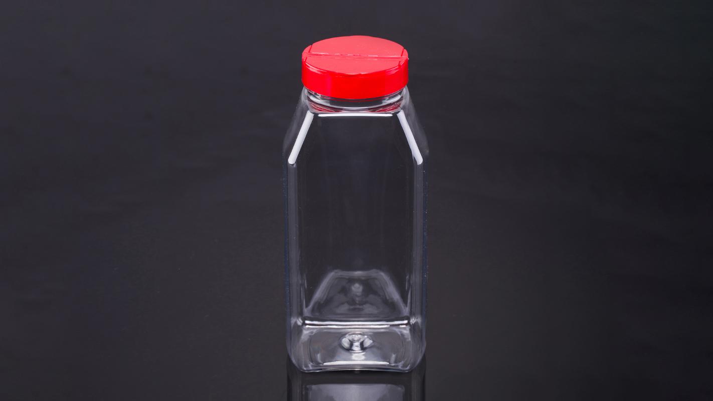 Recipient d'emmagatzematge d'espècies de plàstic rectangular de 32 oz amb tapa de coctelera 3 compradors