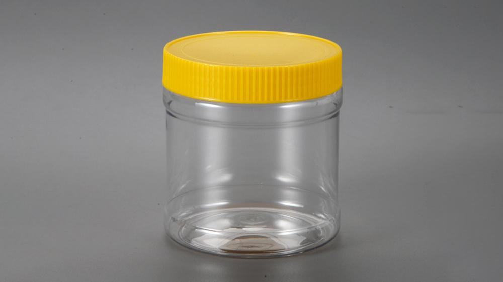 Pot de cafè rodó transparent personalitzat amb tapa de PET