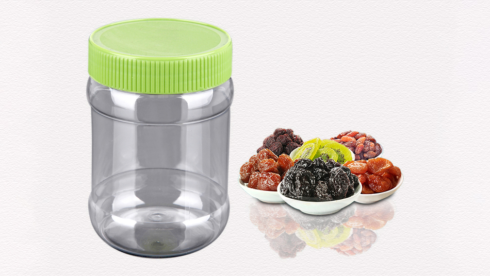 400ml Plastik Şeker Kavanoz ve Konteyner PET Plastik Gıda Sınıfı Kuru Gıda Ambalaj Kavanozu