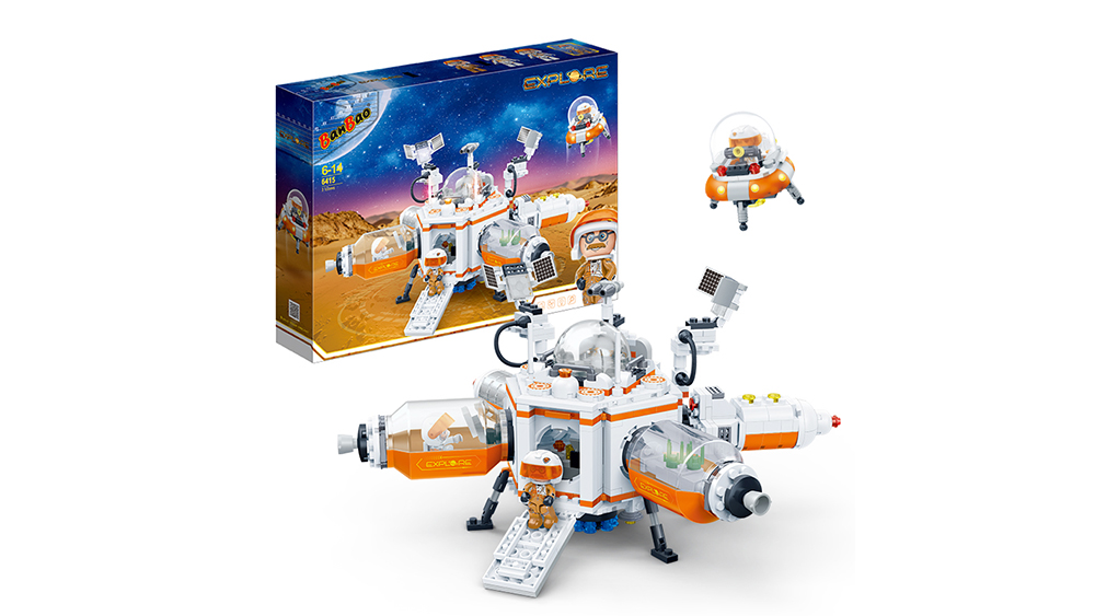 BanBao High Quality Building Block Toys Mars Research Explore for Kids