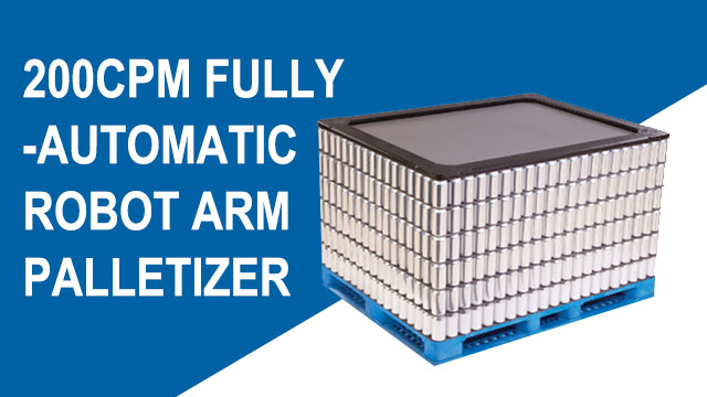 High-Quality 200 CPM Fully-Auto Robot Arm Palletizer