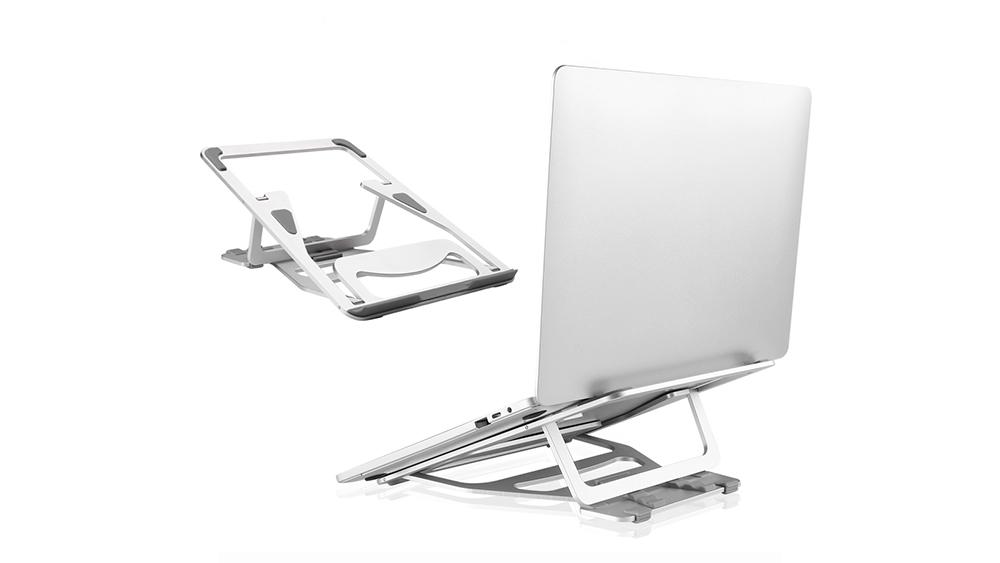 """Állítható többszögű laptop állvány, kompatibilis a MacBook Pro / Air, Apple laptop, 11-15,6 """"-os noteszgép és táblagép asztali helytakarékos, csúszásgátló szilikon paddal GL054A"""