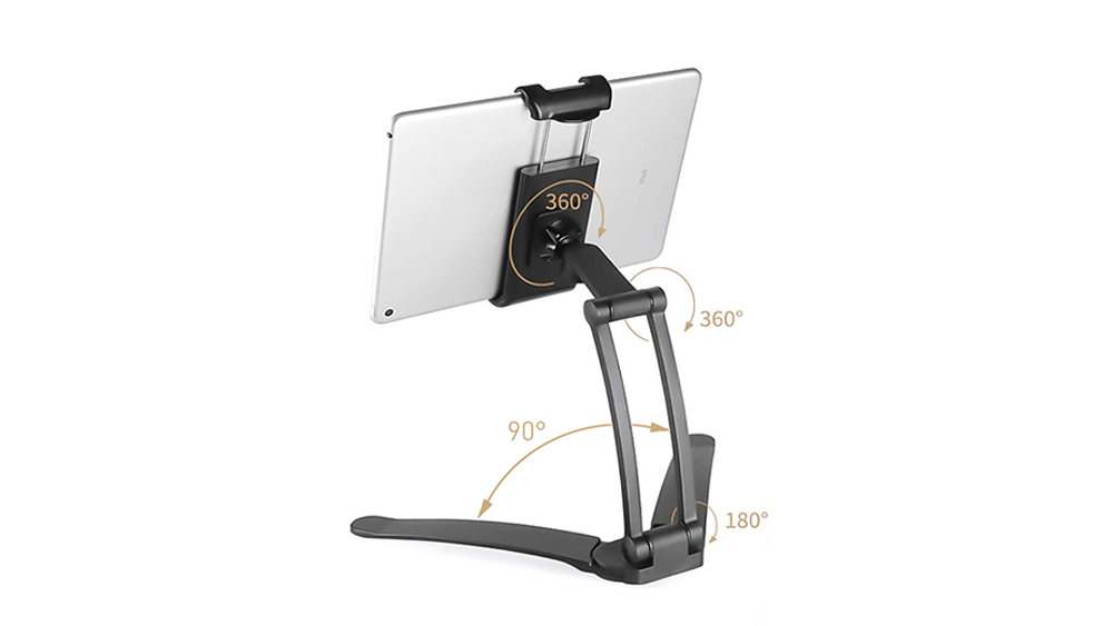 Adjustable Kitchen Tablet Mount Stand Holder for 6-8.5 Inches Width Tablet PC for ipad Air for ipad mini GT0030
