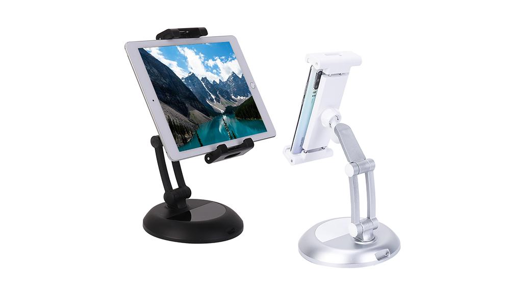 """Inivèsèl Desktop Telefòn Stand tablèt Holder pou 5 """"-12"""" Table Telefòn Selilè tablèt Mount kanpe GT0047"""