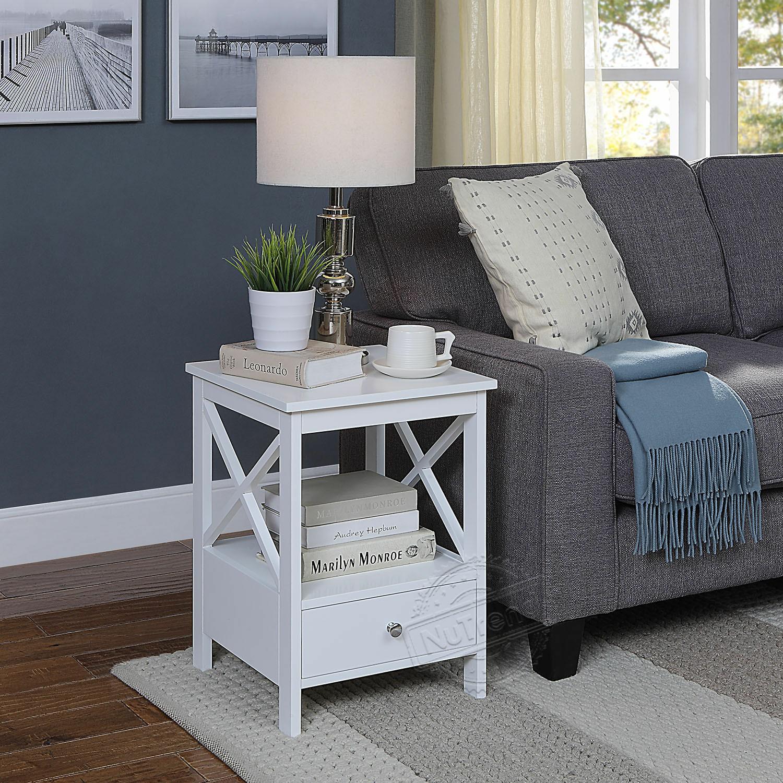 طاولة جانبية صغيرة متقاطعة مع درج لغرفة المعيشة 203393