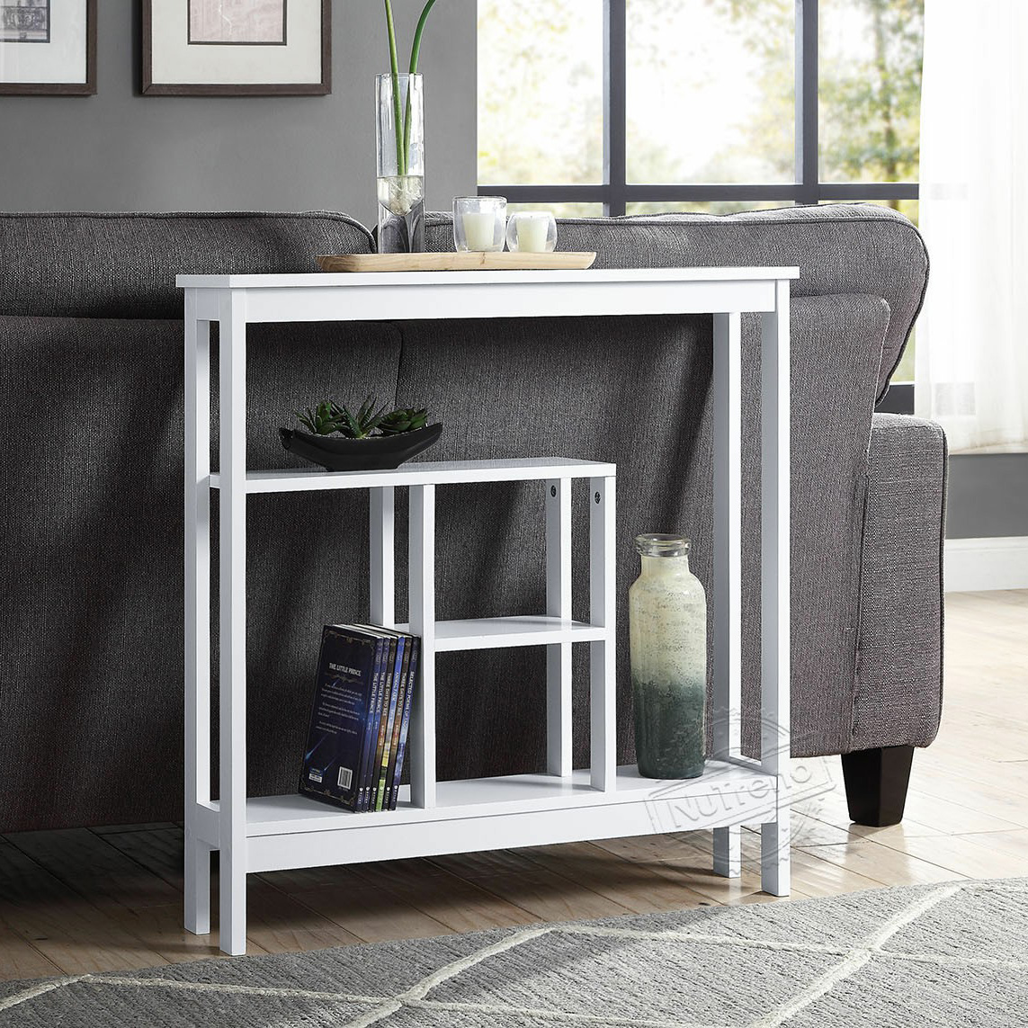 Slim Console Table Narrow Storage Shelf for Small Spaces 203503