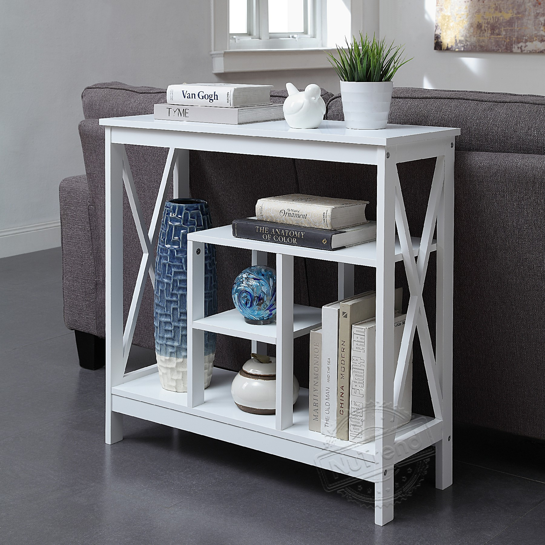 Cross Extra Narrow Console Table for Small Apartment 203504