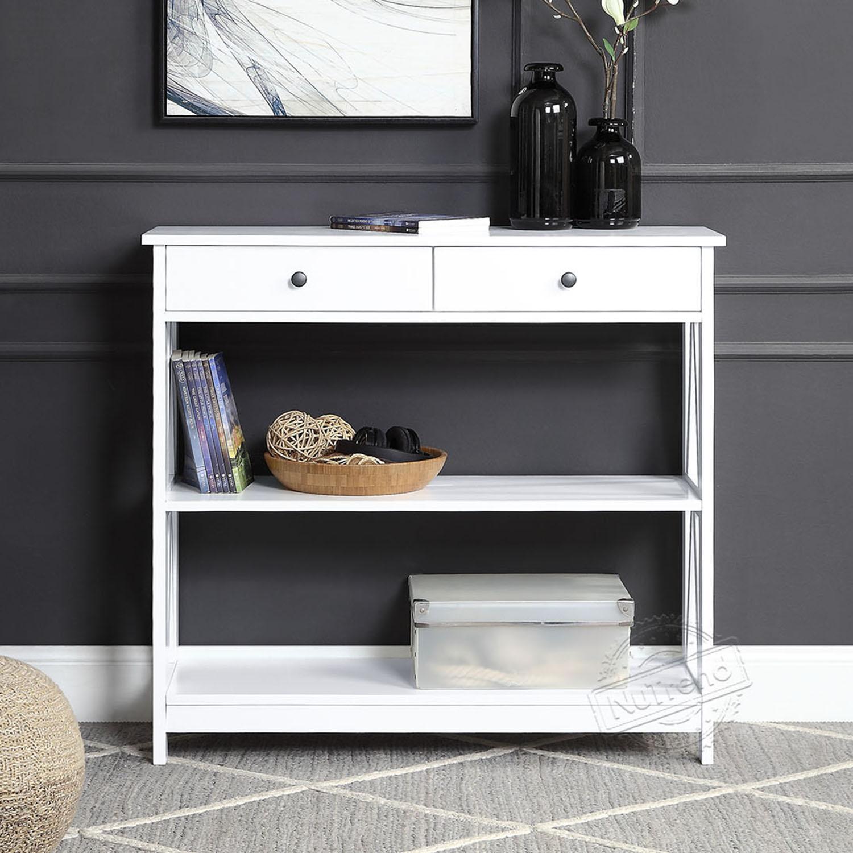 Table console contemporaine en bois étroit avec meubles de salon de tiroirs 203505