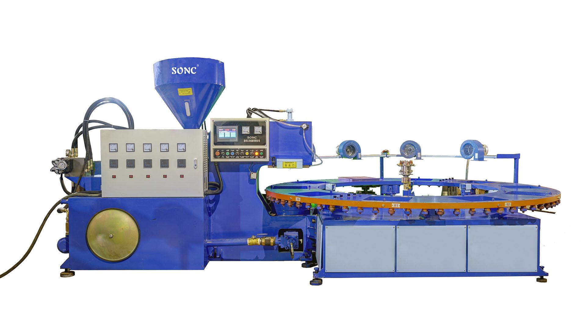 آلة صب حقن أجزاء الدراجة الكهربائية& ماكينة قولبة حقن النعل TPR PVC سلسلة EA1