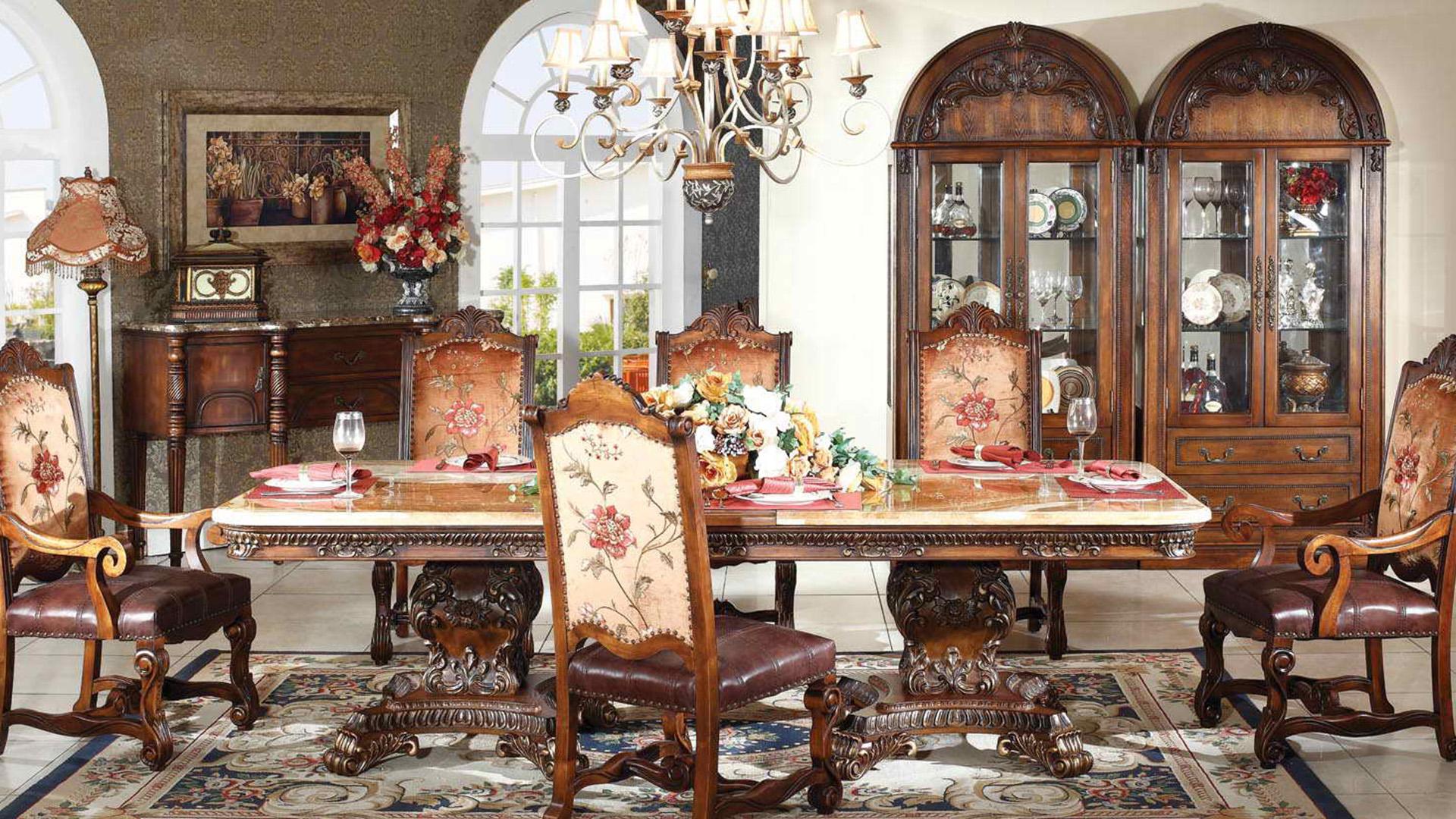 Egur trinkoz eta marmolez egindako goi mailako sukaldeko mahai handia, Goodwin GH153