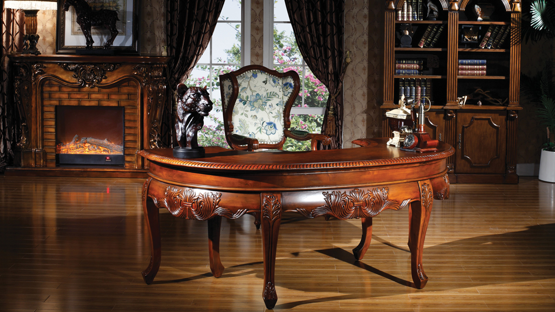 Goodwin furniture Top quality very elegant study desk and chair from China manufacturer GH44