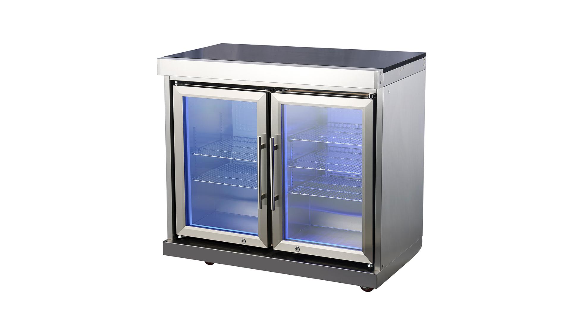 WST-CF2 Ao ar livre da cozinha combinação resistência ao calor Tamanho personalizado BBQ de aço inoxidável Cozinha ao ar livre Armário de armazenamento de armários