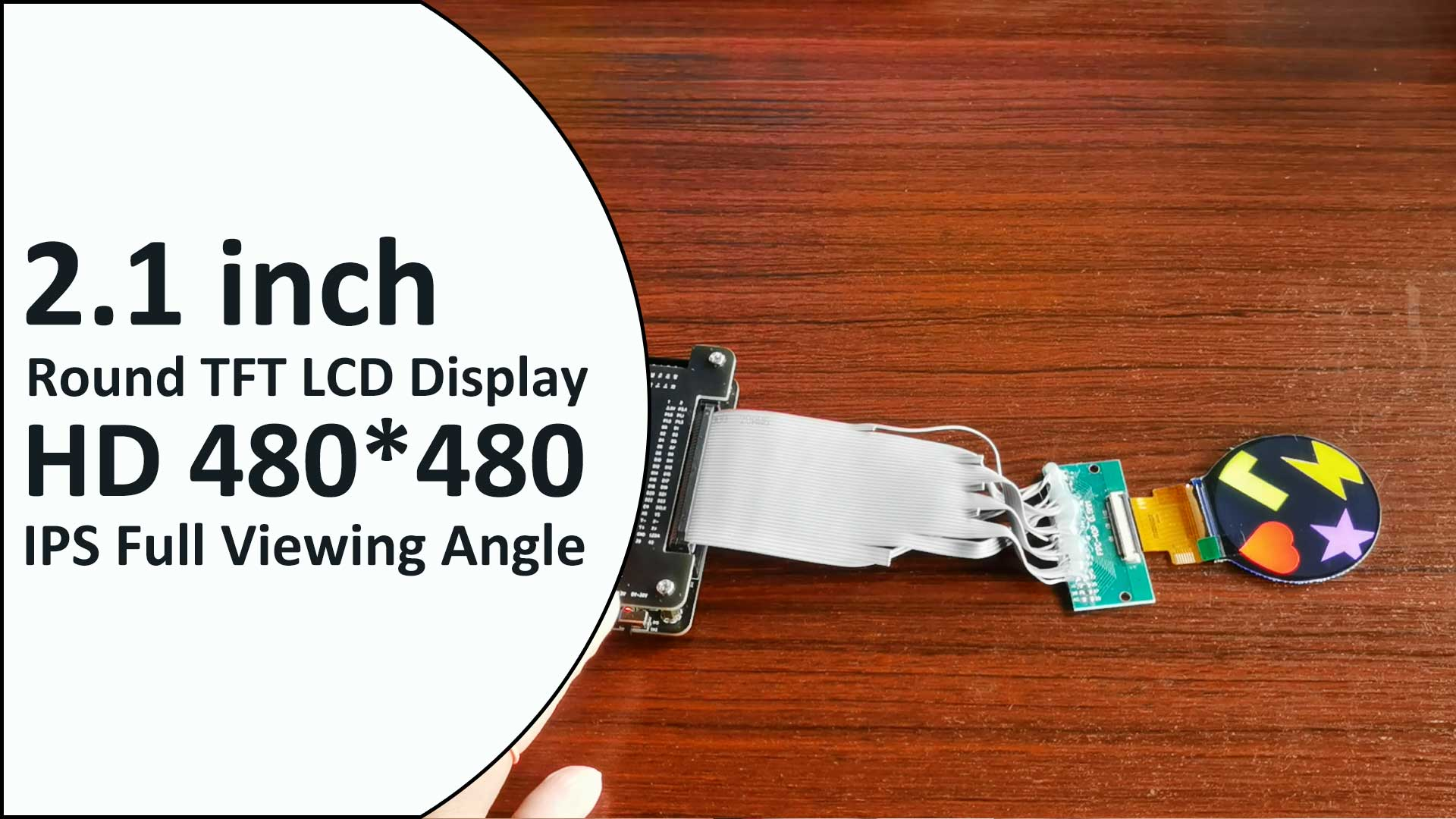 Circular LCD Factory 2.1 inch 480*480 HD IPS Round TFT LCD Display Module 40 Pin SPI RGB ST7701S
