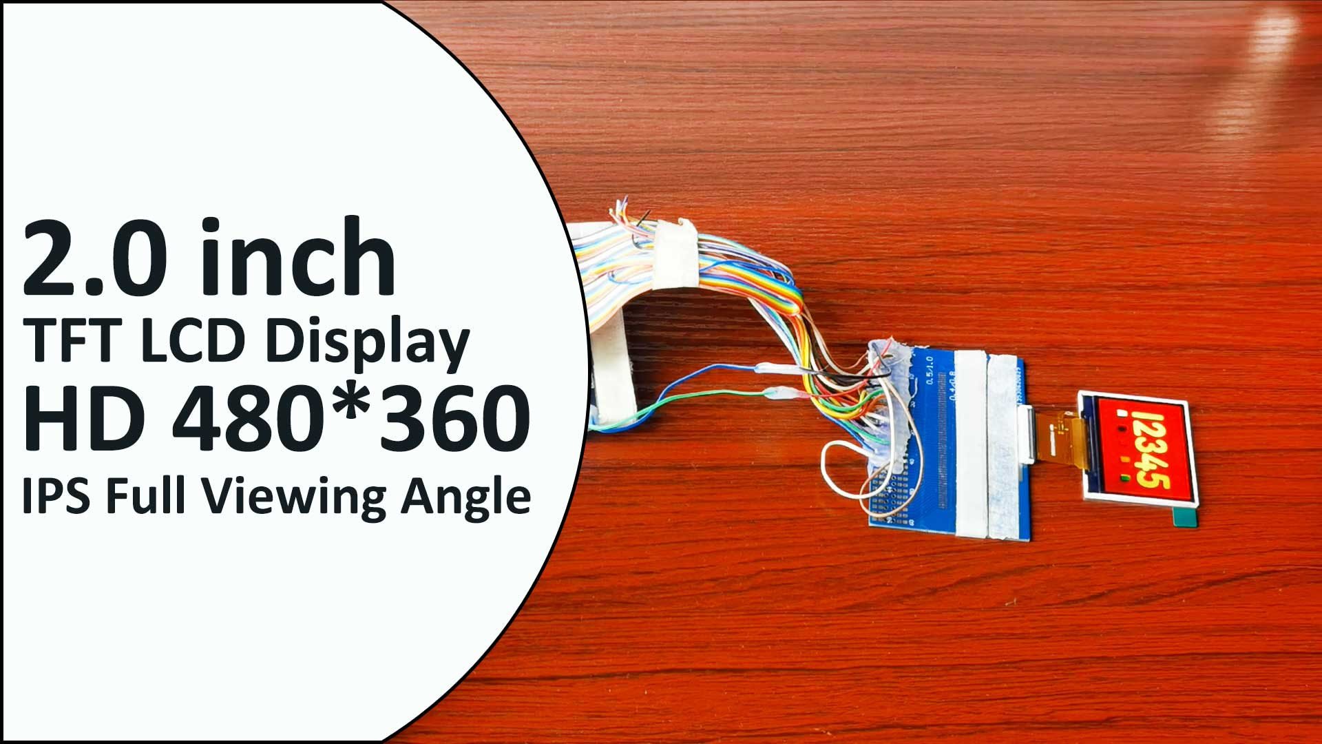 2.0 inch IPS Landscape LCD Display Module 480*360 MIPI RGB 2 inch TFT Screen ST7701S 40 Pin