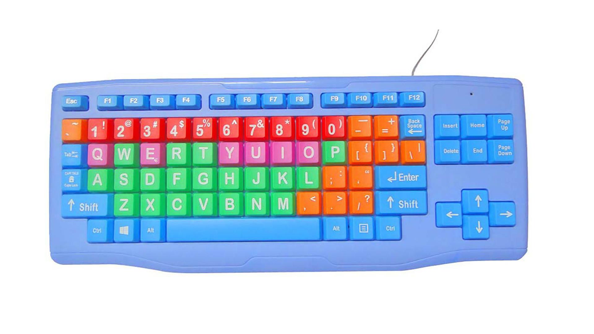 Красочная проводная офисная клавиатура в детском стиле KY-K800