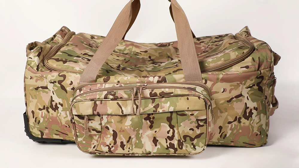 ARMYCAMO Military Tactical Wheeled Duffel Bag