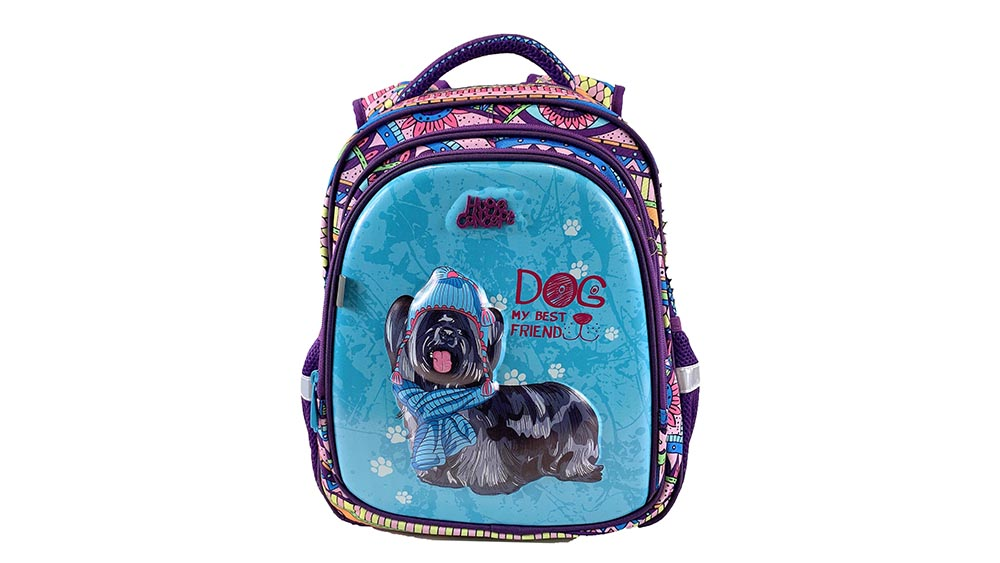 Fashion School Cartoon Dog Backpack for Girls Shoulder Daypack 2040