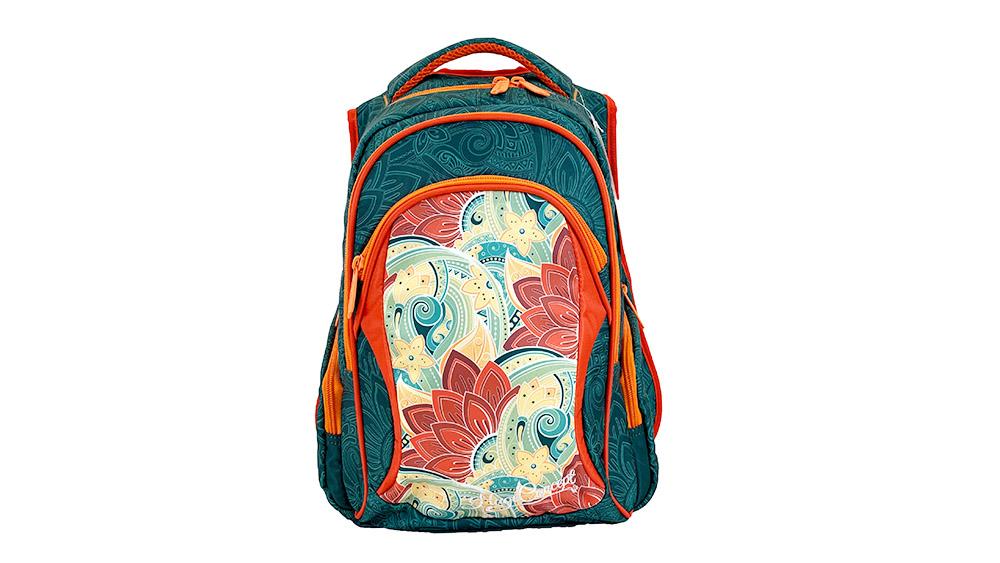 Fashion Flower Backpack for Children School Backpack for Student Polyester Girls Zipper & Hasp Soft Handle 2002