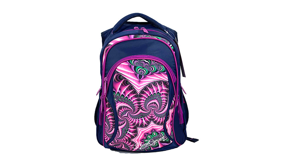 Fashion Flower Backpack for Children School Backpack for Student Polyester Girls Zipper & Hasp Soft Handle 2003