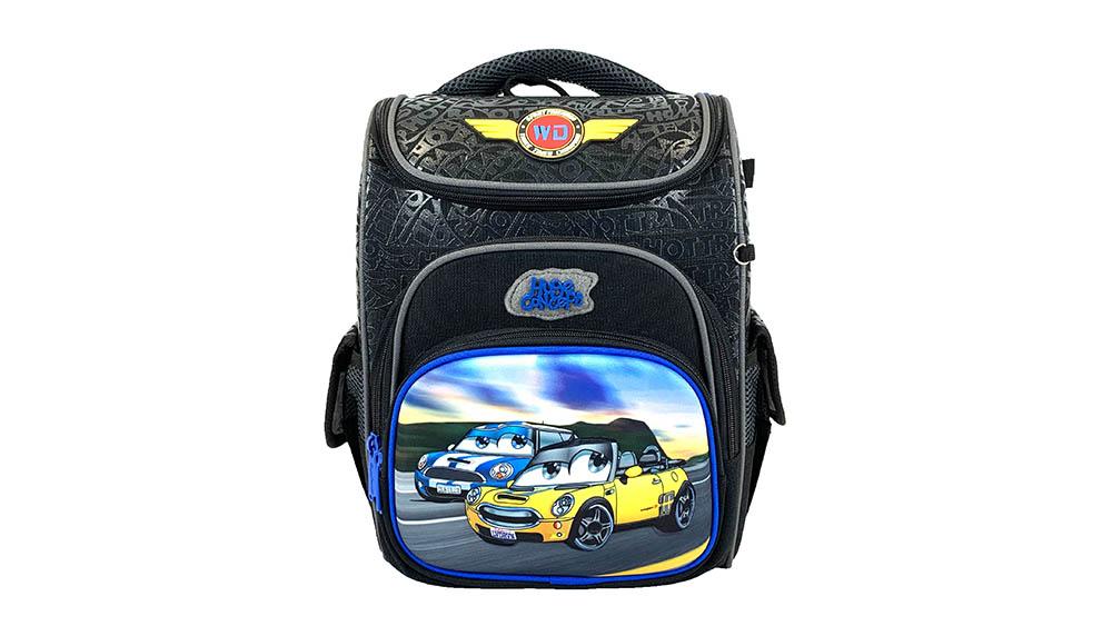 Fashion Cartoon Car Backpack for Children School Backpack Polyester Boys Zipper & Hasp Soft Handle