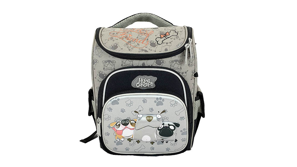 Fashion Cartoon Car Backpack for Children School Backpack Polyester Boys Zipper & Hasp Soft Handle 2033