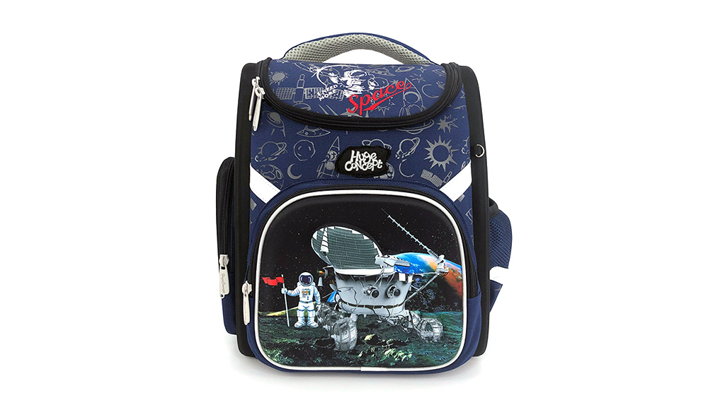 Fashion Cartoon Car Backpack for Children School Backpack Polyester Boys Zipper & Hasp Soft Handle 2035