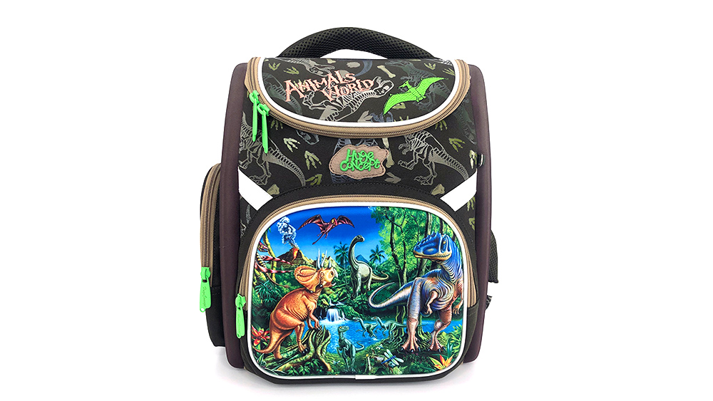 Fashion Cartoon Car Backpack for Children School Backpack Polyester Boys Zipper & Hasp Soft Handle 2036