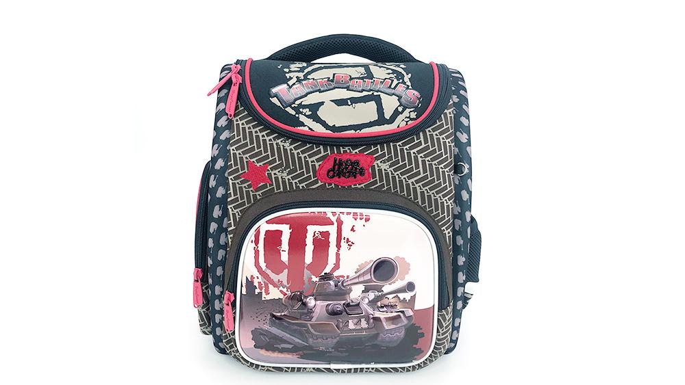 Fashion Cartoon Car Backpack for Children School Backpack Polyester Boys Zipper & Hasp Soft Handle 2038