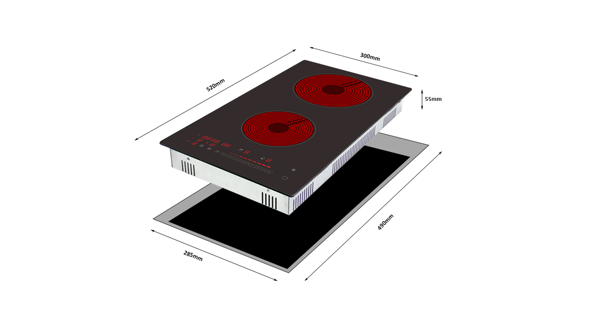 Built-in Double Ceramic Induction Hob Manufacturers 8326-256