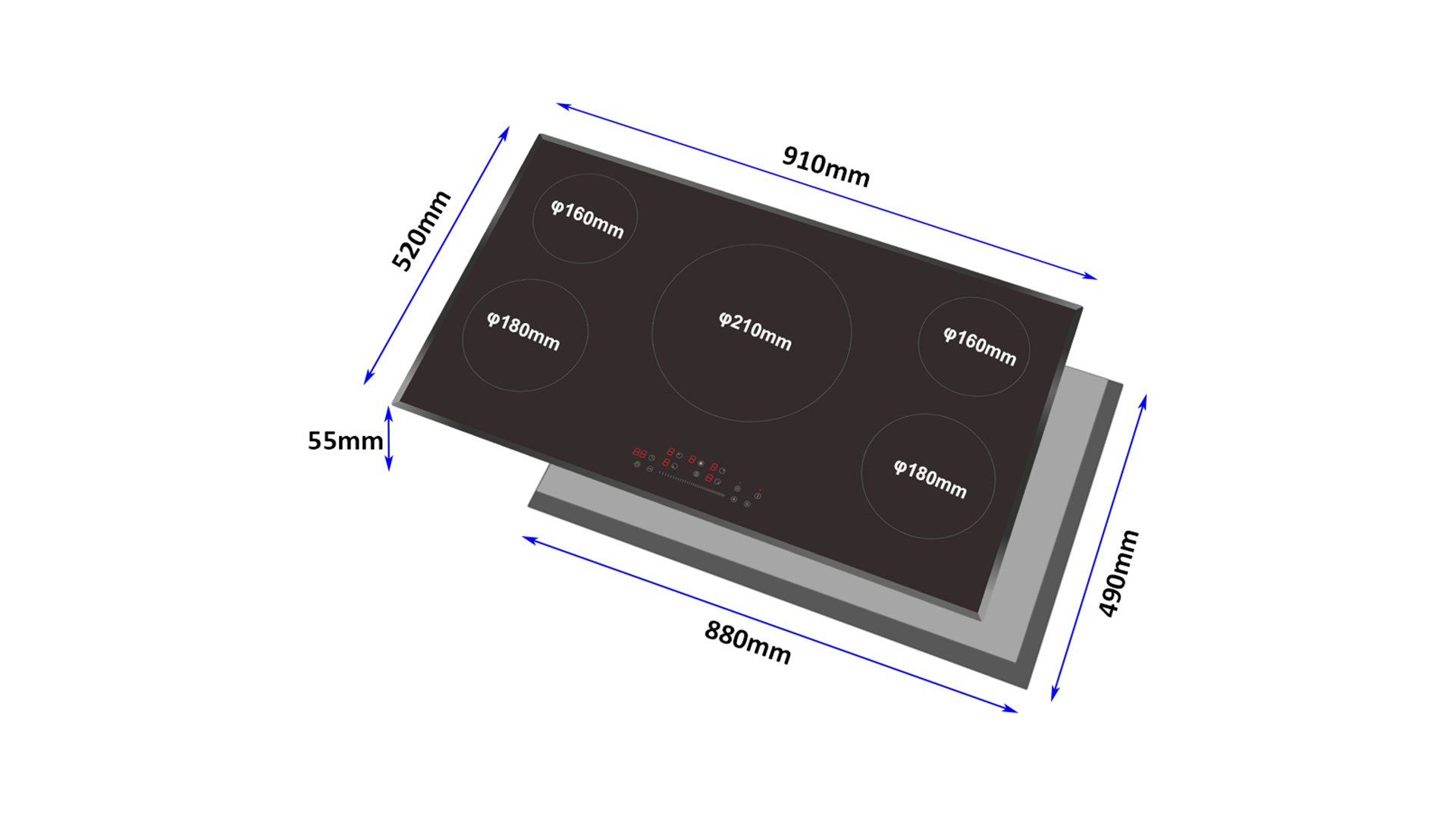 Top Rated Built-in Five Burner Induction Cooktop for Sale 8150-201
