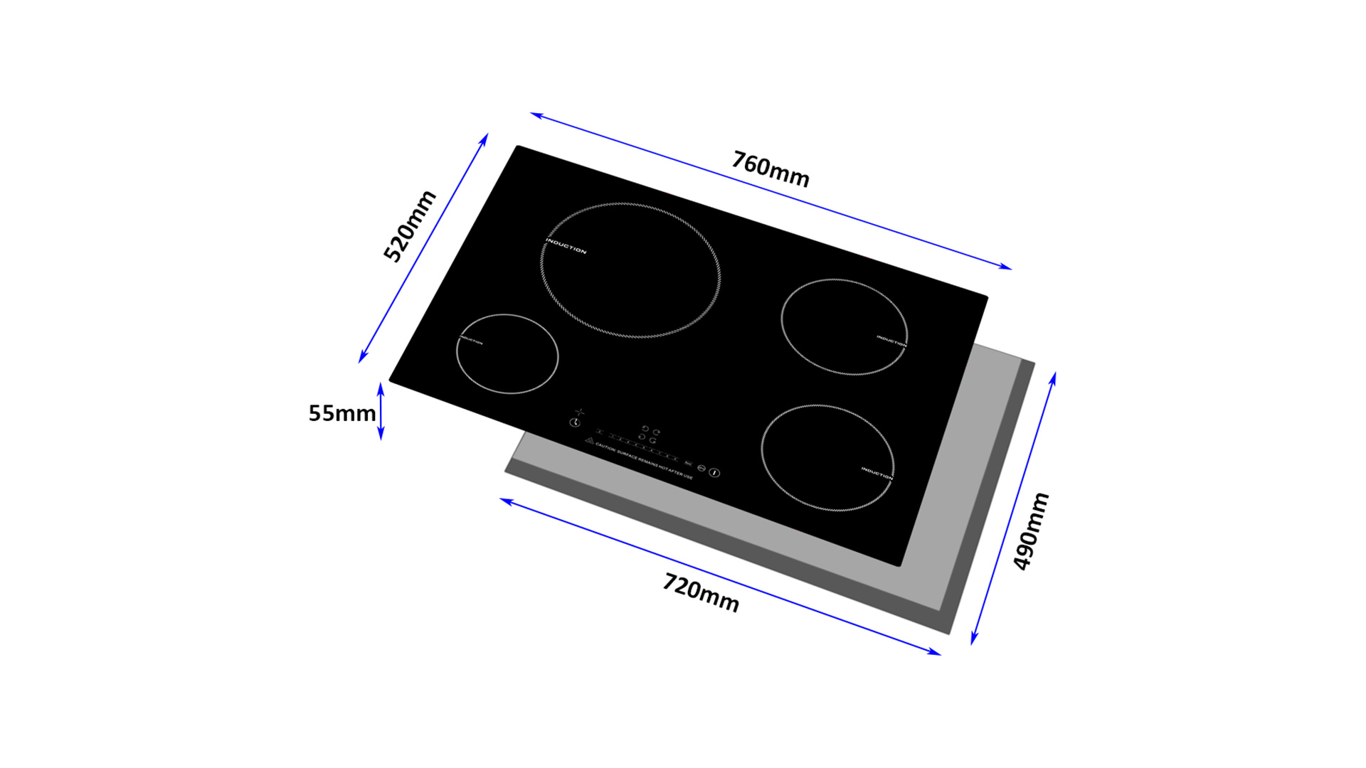 Built-In Four Burner Induction Cooktop 8141-201