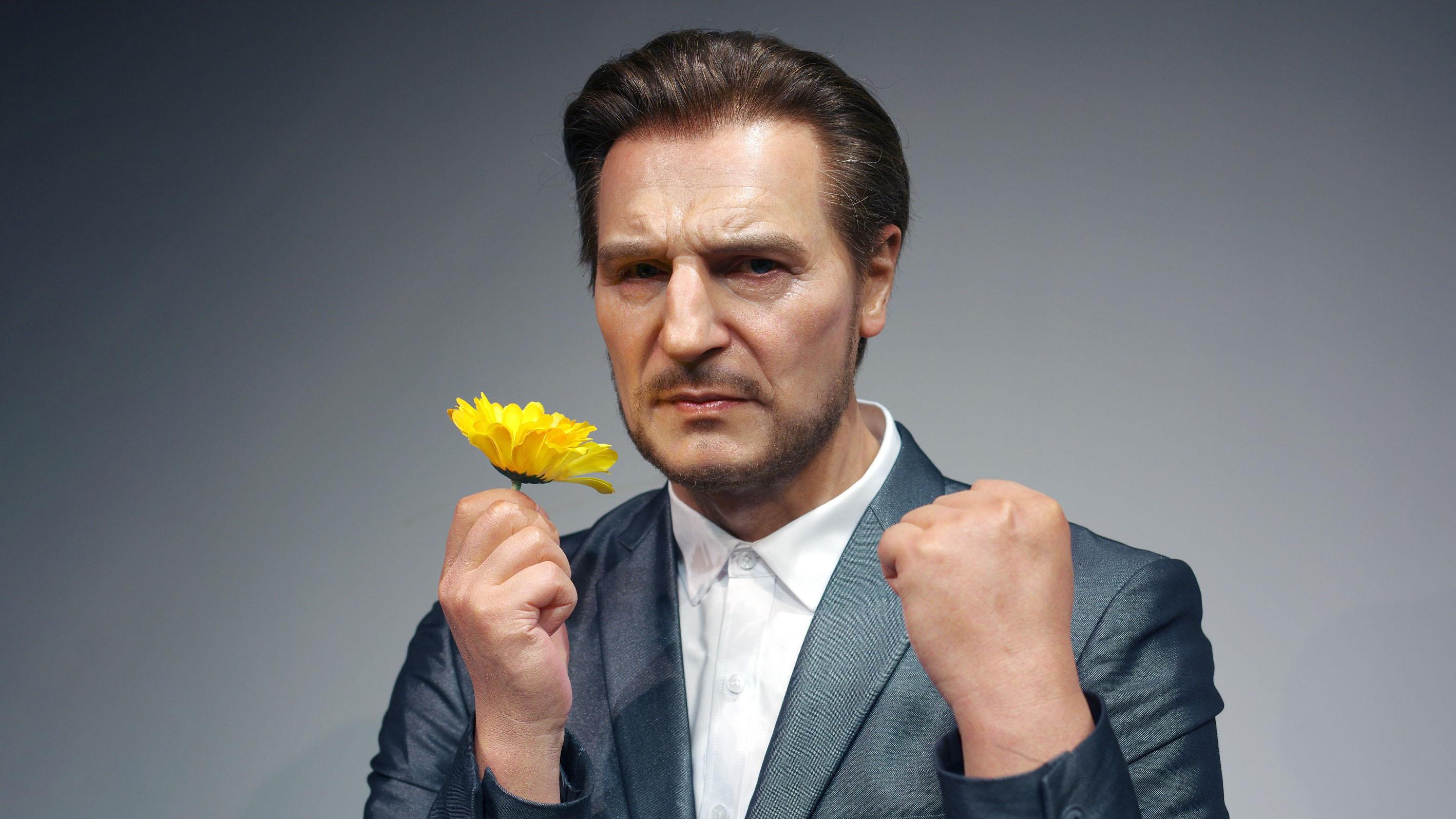 Personalidades notables realistas Estatuas de silicona para Liam Neeson