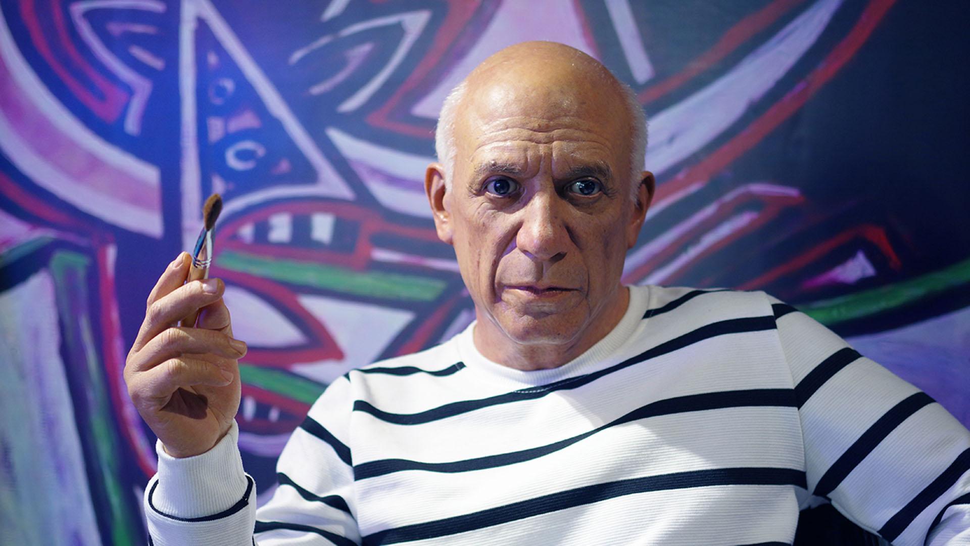 Pablo Picasso Simulation de haute qualité Figure de cire humaine de haute qualité