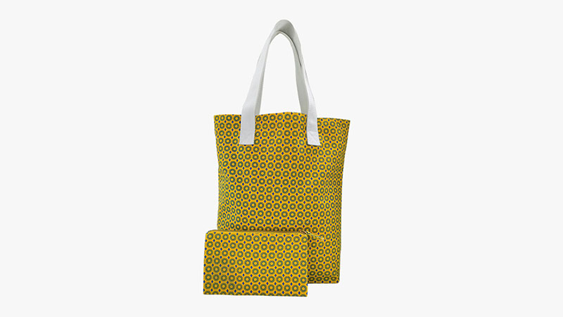 Canvas folded cotton shopping bag