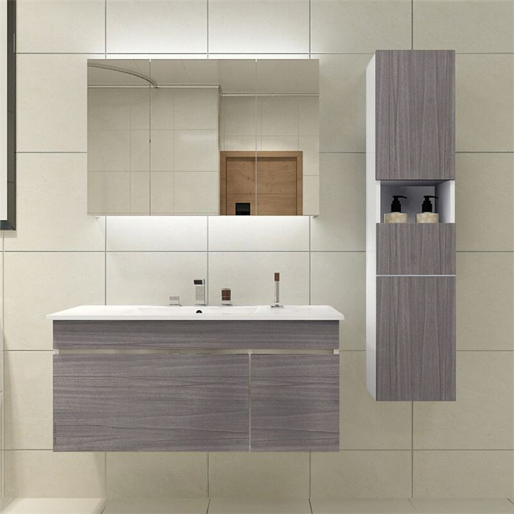 Cheap Light Grey Modern Bathroom Vanities Sets