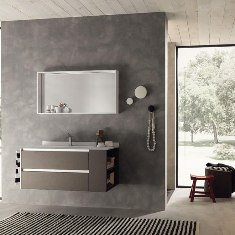 Chinese Bathroom Vanity Manufacture Mirror PVC Bathroom Wash Cabinet