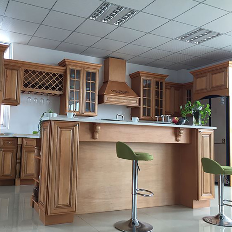 American Standard Solid Wood Kitchen Cabinet Designs Modern Cheap
