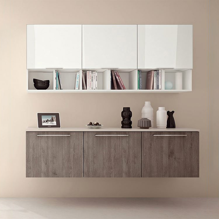 Assemble Modern Wooden High Gloss Laminate Kitchen Cabinets