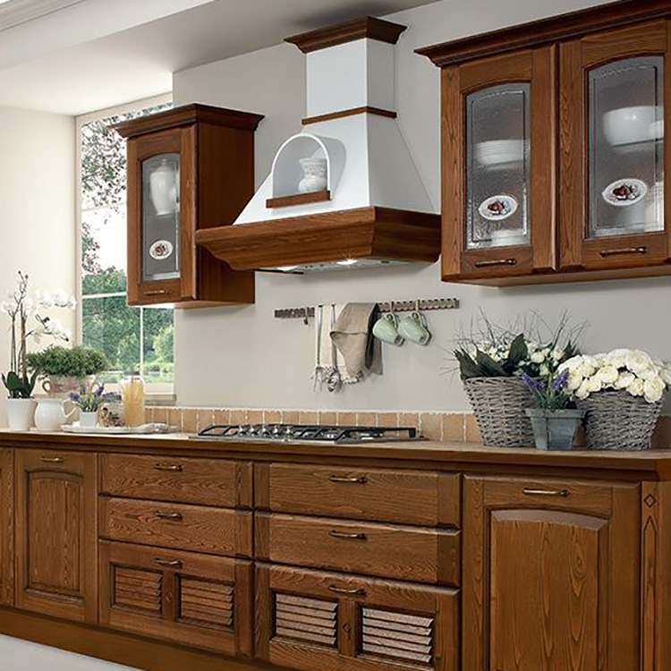 Best Sale All Solid Wood Kitchen Cabinet Design