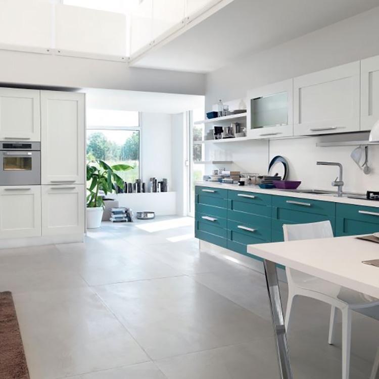 Blue Cabinet Kitchen Modern Furniture
