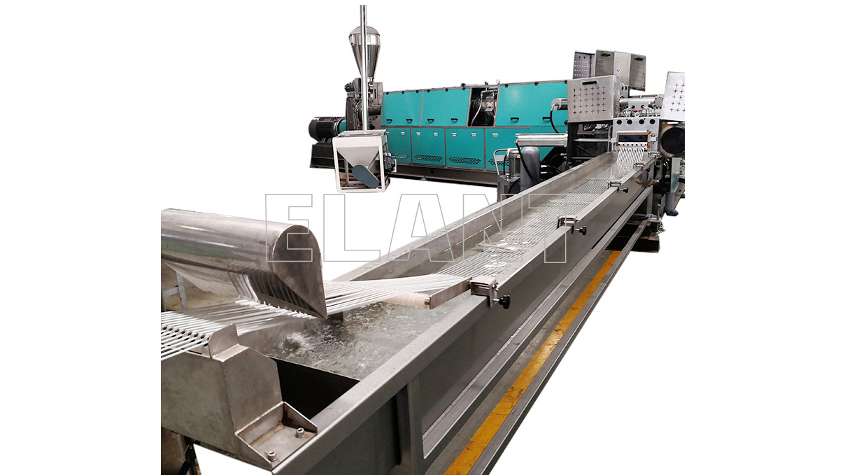 Customized Rigid Plastic HDPE PP Flakes Pelletizing Machine with Strand die manufacturers From China