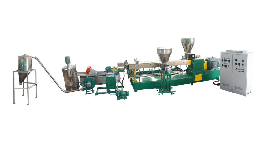 Customized HDPE Plastic Pelletizing Machine in Parallel Twin Screw Extruder with good price-Elant