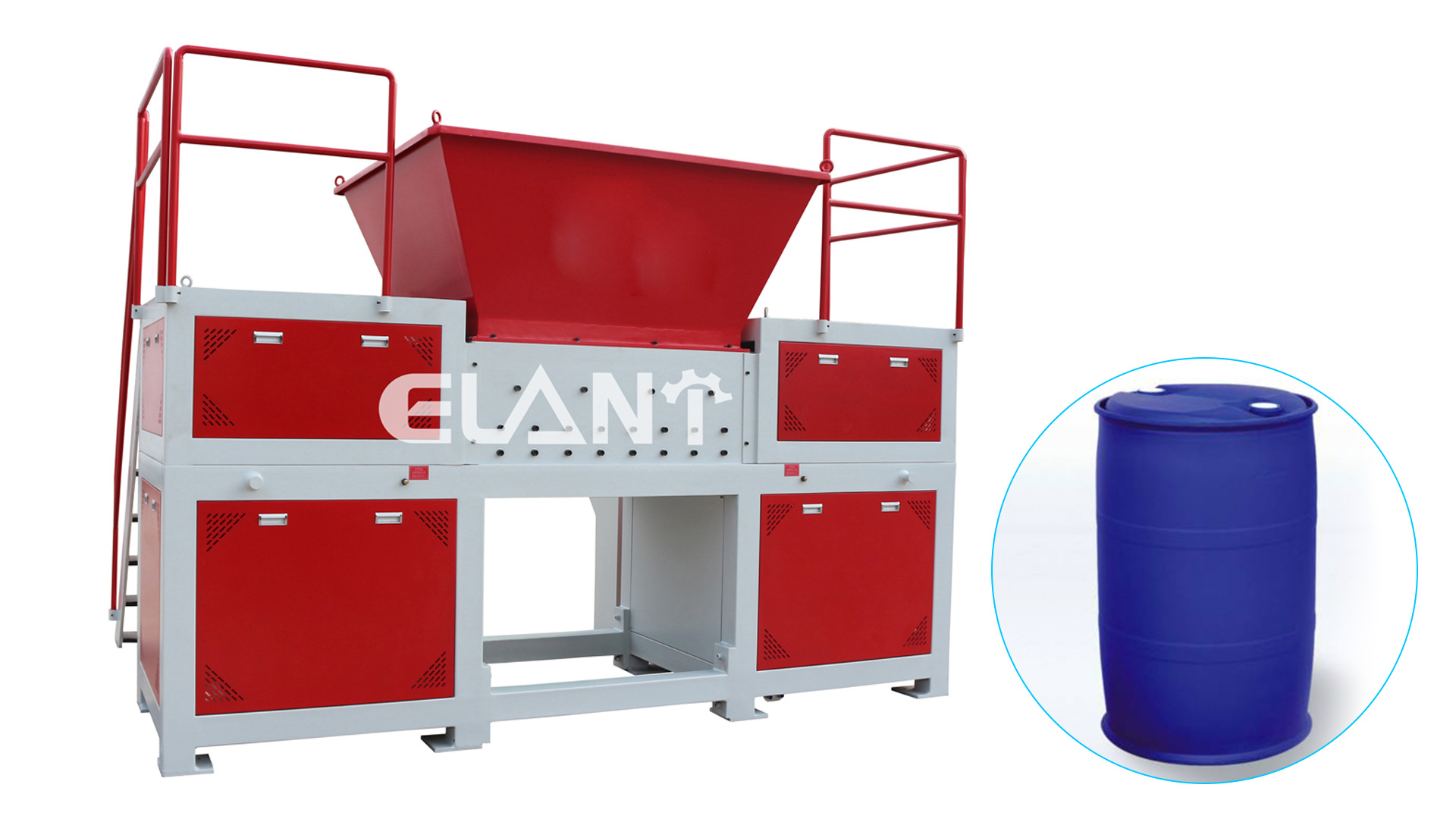 China PE Drum, bucket, jerry cans shredder machine manufacturers-Elant