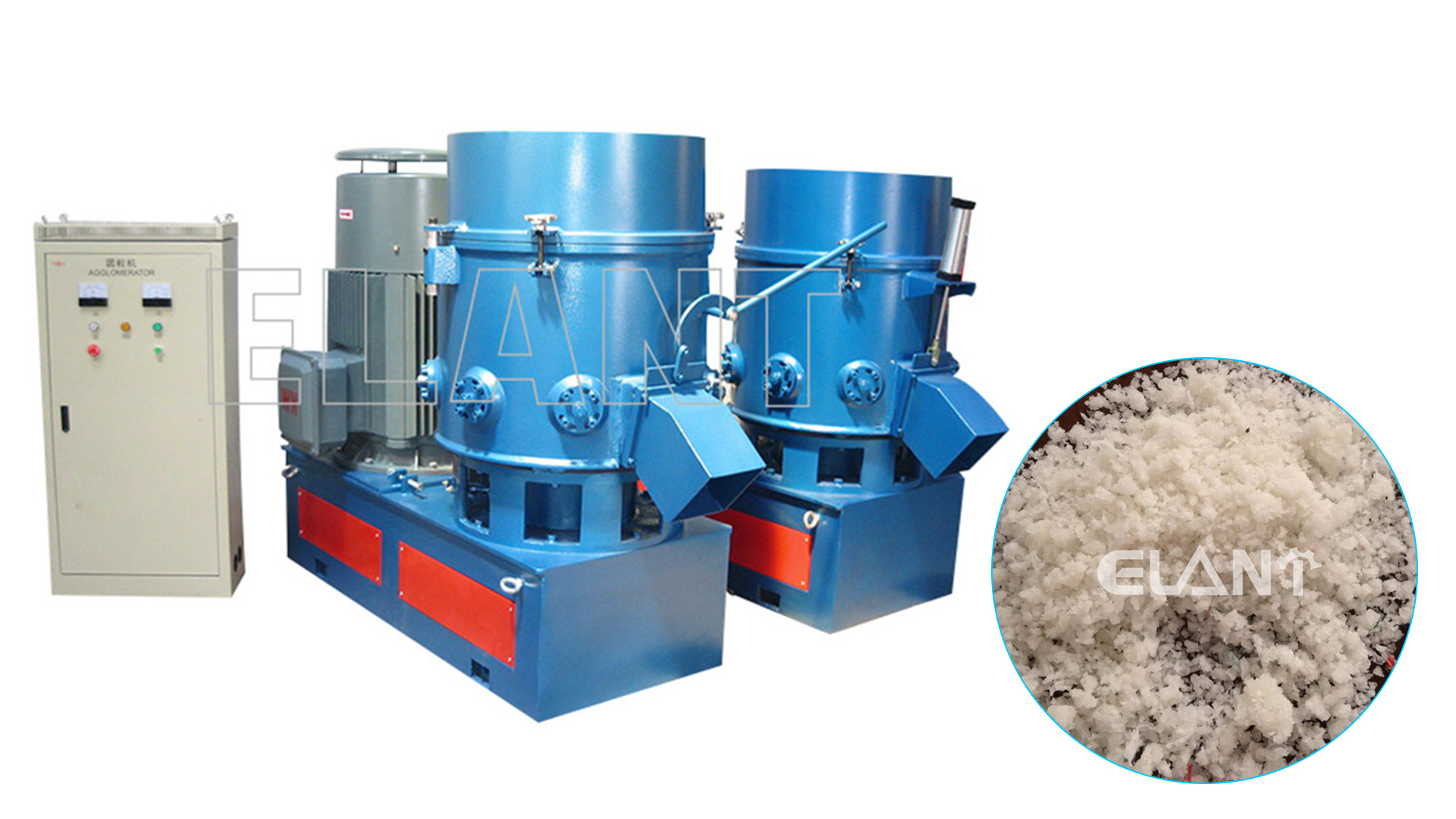 PP PE PET Plastic Agglomerator Machine Factory