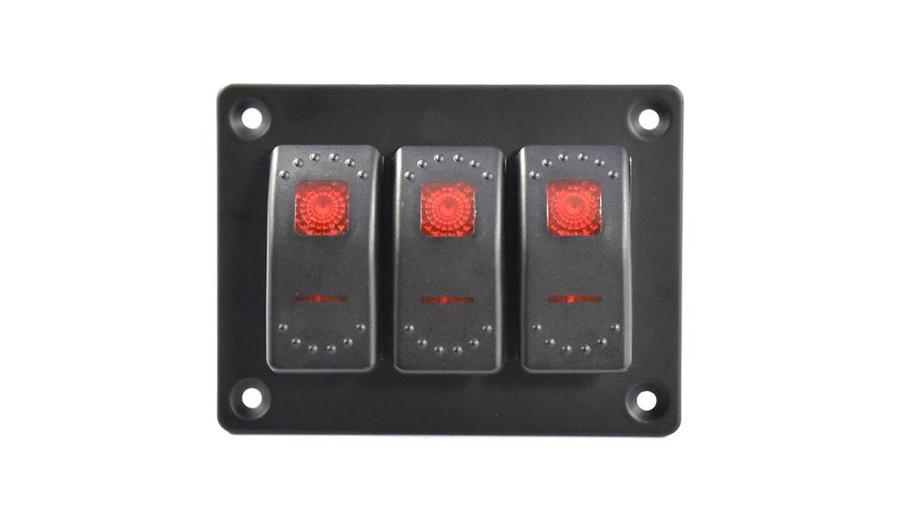 Rocker switch aluminum panel rocker switch